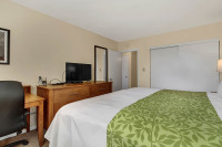 Executive Housing bedroom with upgraded linens in Wilkes-Barre PA