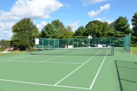 Executive housing with tennis and fitness centers